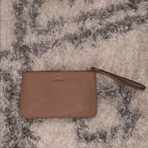 Coach small wristlet perfect fit in blush